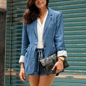 Madewell Linen Blend Oversized Blazer Jacket Coat